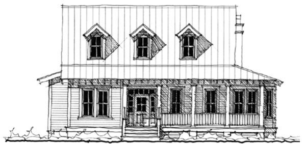 Historic Southern House Plan 73705 Elevation