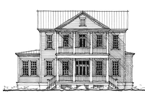 Historic Home Elevation : House plan familyhomeplans