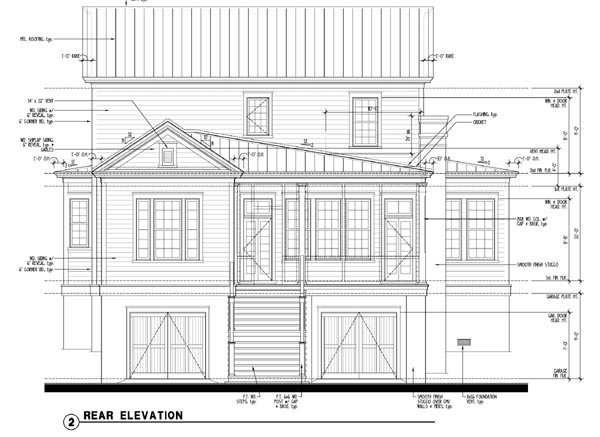 Historic Southern House Plan 73712 Rear Elevation