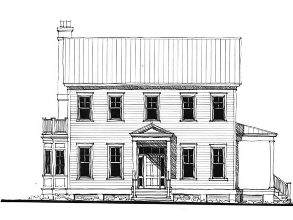 Historic Southern House Plan 73713 Elevation