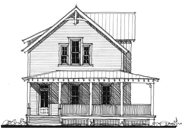 Historic Southern House Plan 73714 Elevation