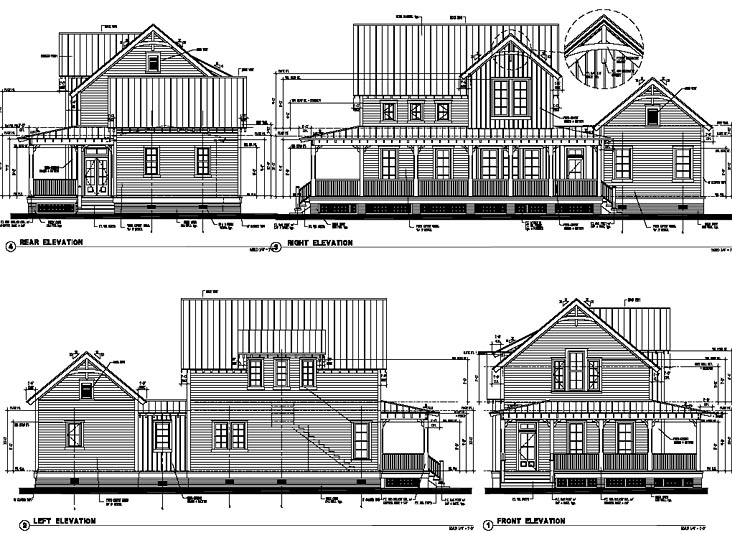 Historic Southern House Plan 73714 Rear Elevation