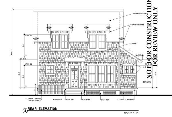 Historic, Southern House Plan 73715 with 4 Beds, 4 Baths Rear Elevation
