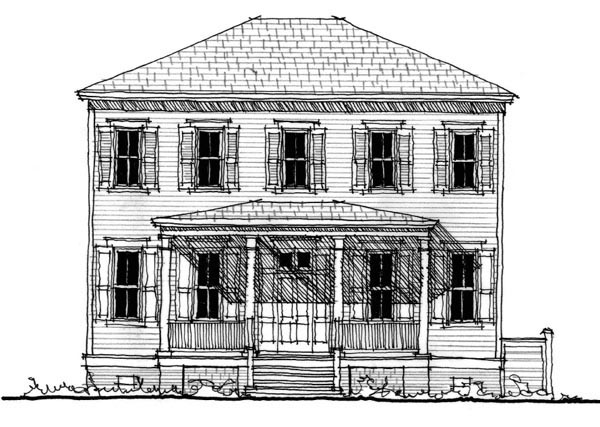 Historic Southern House Plan 73717 Elevation