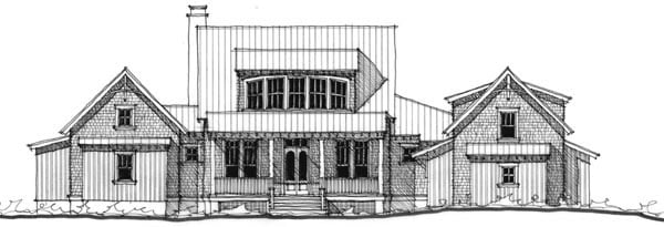 Historic Southern House Plan 73721 Elevation