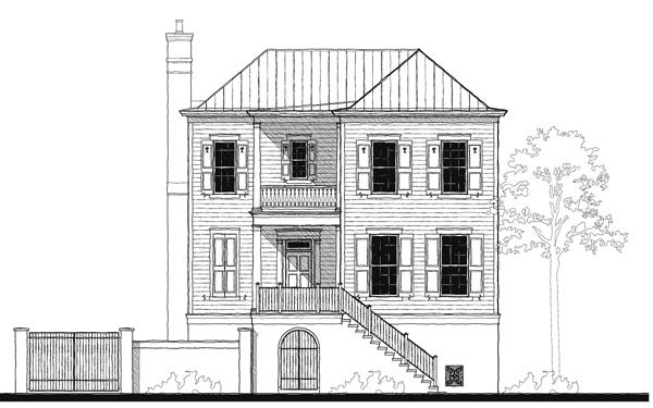 Historic Southern House Plan 73728 Elevation