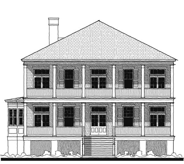 Historic Southern House Plan 73732 Elevation