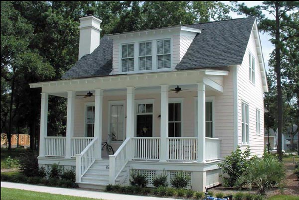 Historic Southern House Plan 73733 Elevation