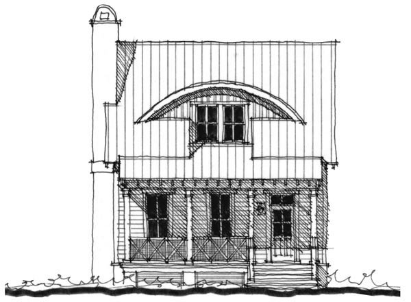 Historic Southern House Plan 73742 Elevation