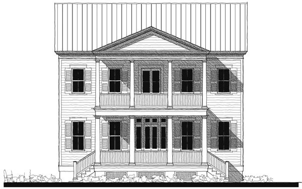 Historic Southern House Plan 73746 Elevation