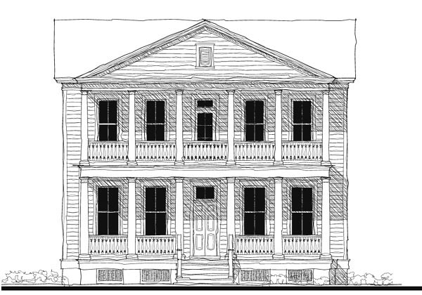 Historic Southern House Plan 73748 Elevation