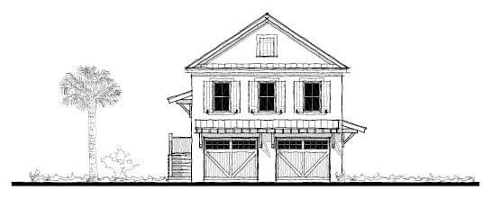 Historic Garage Plan 73751 Elevation