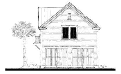 Historic Garage Plan 73752 Elevation
