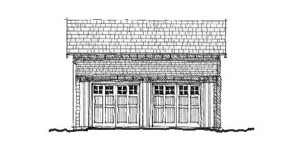 Elevation of Garage Plan 73755