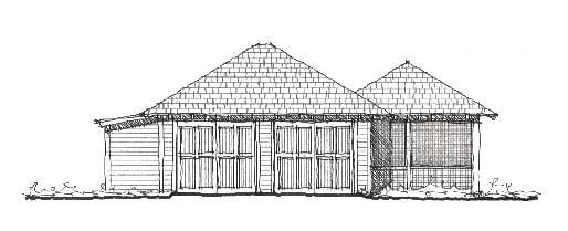 Historic Garage Plan 73756 Elevation