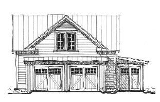 Historic Garage Plan 73758 Elevation