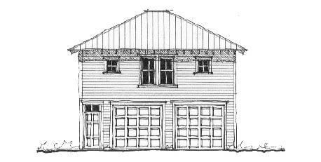 Historic Garage Plan 73761 Elevation