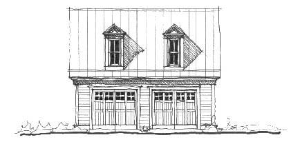 Historic Garage Plan 73763 Elevation