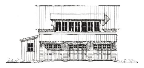 Historic Garage Plan 73781 Elevation
