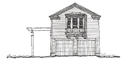 Historic Garage Plan 73785 Elevation