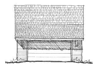 Historic Garage Plan 73787 Elevation