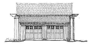 Elevation of Garage Plan 73791