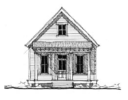 Historic House Plan 73797 Elevation