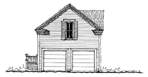 Historic 2 Car Garage Apartment Plan 73805 with 1 Beds, 1 Baths Elevation