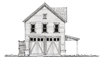 Historic Garage Plan 73814 Elevation
