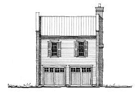 Garage-Living Plan 73818