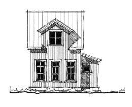 Historic House Plan 73819 Elevation