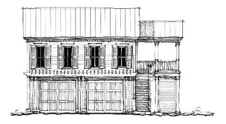 Colonial Historic Traditional Elevation of Plan 73827