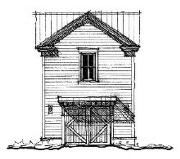 Historic 1 Car Garage Apartment Plan 73828 with 1 Beds, 1 Baths Elevation