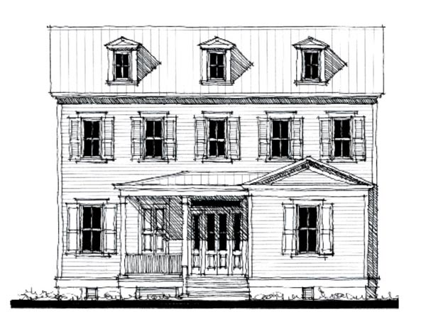Historic Southern House Plan 73841 Elevation