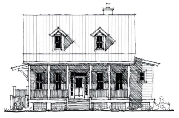 Country Historic House Plan 73844 Elevation