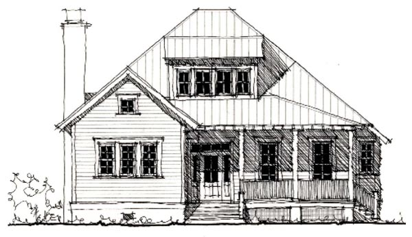 Country Historic House Plan 73849 Elevation