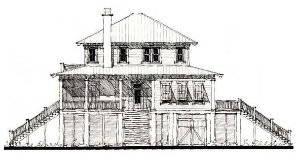 Country, Historic House Plan 73856 with 4 Beds, 4 Baths Elevation