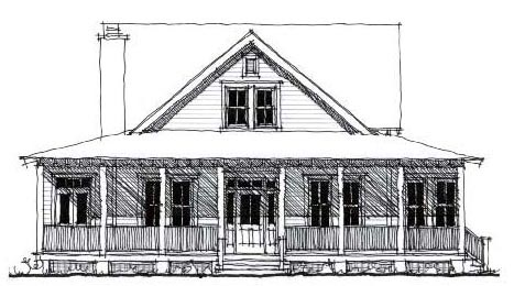 Country Historic House Plan 73859 Elevation