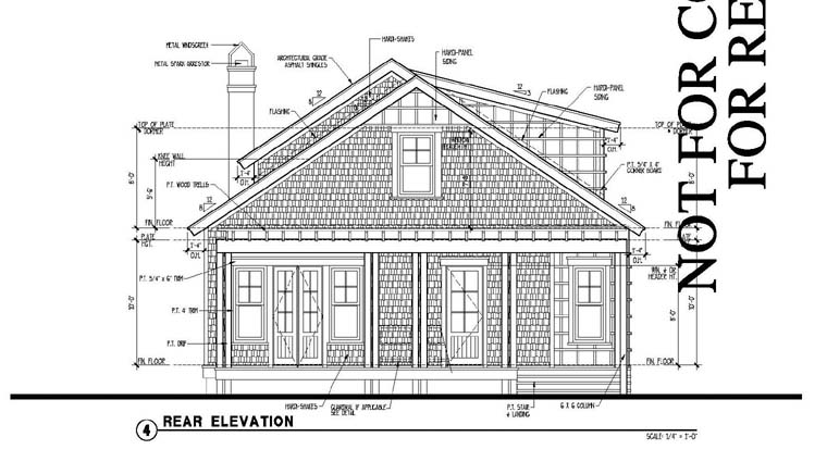 Country Historic House Plan 73870 Rear Elevation