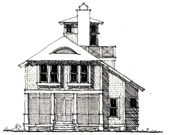 Country Historic House Plan 73873 Elevation