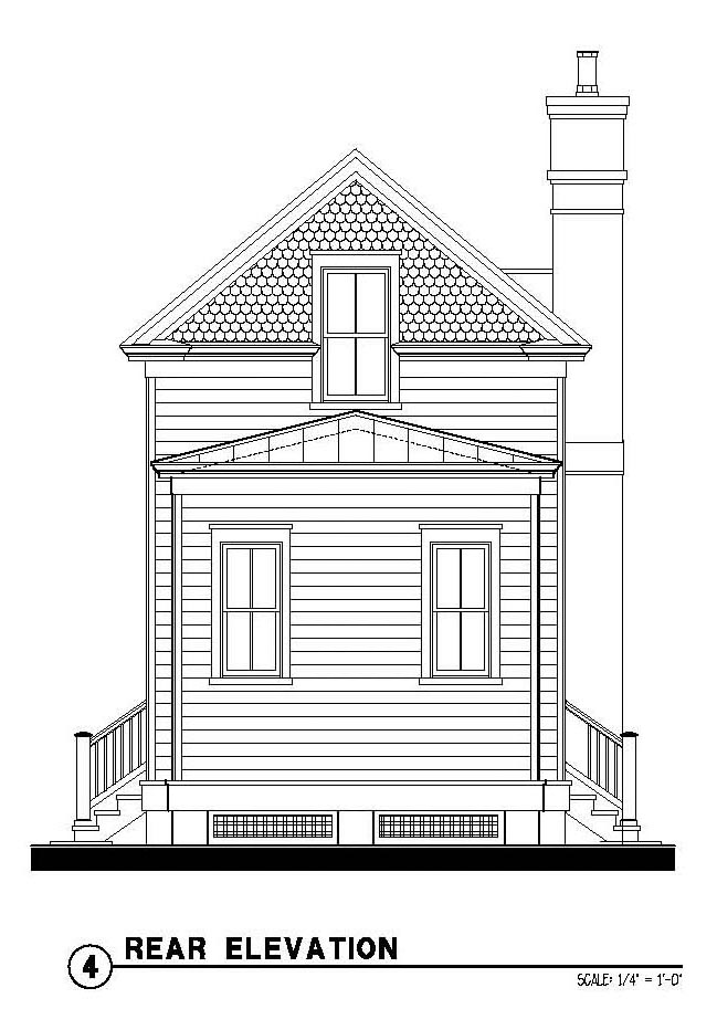 Country Historic House Plan 73875 Rear Elevation