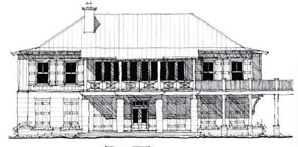 Country Historic House Plan 73878 Elevation