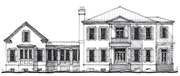 Country Historic House Plan 73879 Elevation