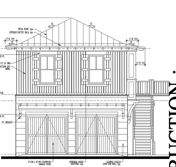 Country Historic House Plan 73881 Rear Elevation