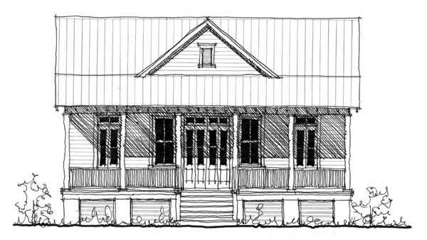 Historic Home Elevation : House plan at familyhomeplans