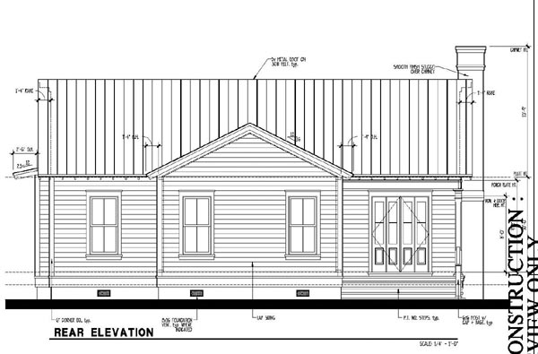 Country Historic House Plan 73888 Rear Elevation