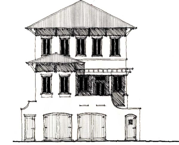 Country Historic House Plan 73892 Elevation