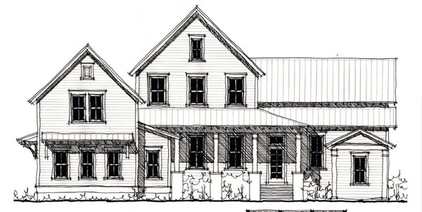 Country Historic House Plan 73901 Elevation