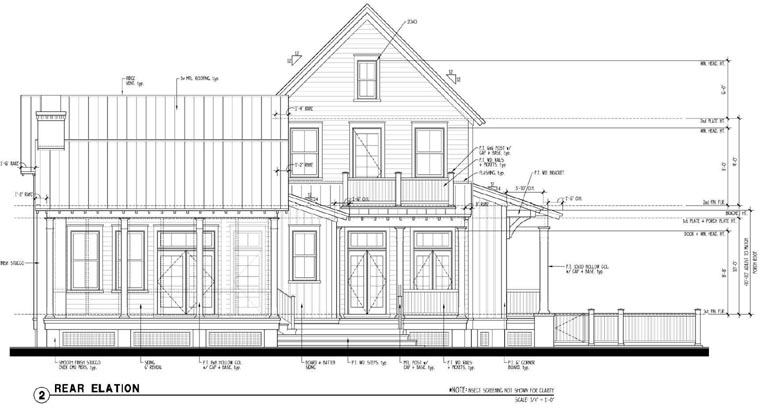 Country Historic House Plan 73901 Rear Elevation