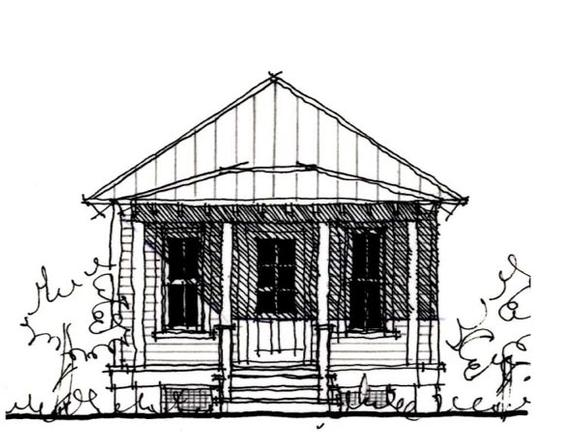 Country, Historic House Plan 73903 Elevation